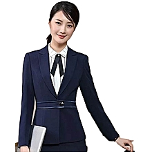 7ffa499e89 Navy Blue Long Sleeved Loose Lapel Slim Suit Official Blazer/Coat/Jacket