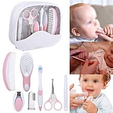 7 Pcs / Set Baby Grooming Care Manicure Set Healthcare Kit Nurse Tool Pink