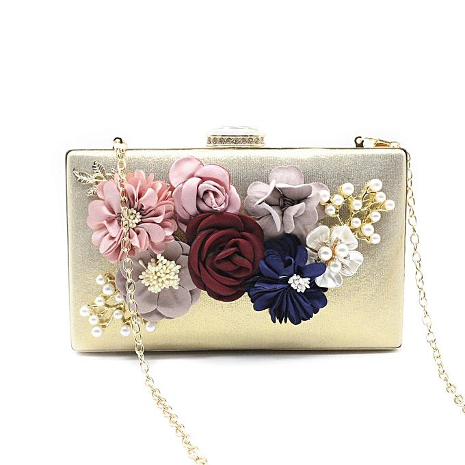 14496629e2cf Tectores Fashion Trend Women's Flower Clutches Evening Bags Handbags  Wedding Clutch Purse Gift