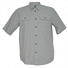 Mint Green Short Sleeved Mens  Shirts
