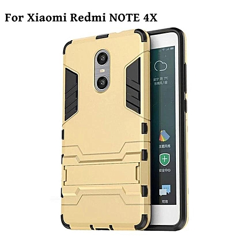 Generic Case For Xiaomi Redmi Note 4X Armour Hard Plastic + Soft Silicone/ TPU Phone Case / Anti Falling Phone Cover/Shockproof PhoneShell /Phone Protector ...