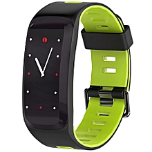 NO.1 F4 Colorful Sports Smart Bracelet IP68 Waterproof Heart Rate / Sleep / Blood Pressure / Blood Oxygen Monitor - SPRING GREEN