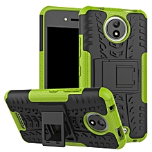 "For MoTo C Case, Hard PC+Soft TPU Shockproof Tough Dual Layer Cover Shell For 5.0"" MoTo XT1754 XT1750 XT1755, Green"