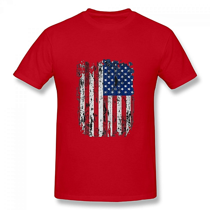 70cebce00bd6e America Est in 1776 t shirt 4th of July Source · Generic USA Distressed Flag  4th Of July Men s Cotton Short Sleeve