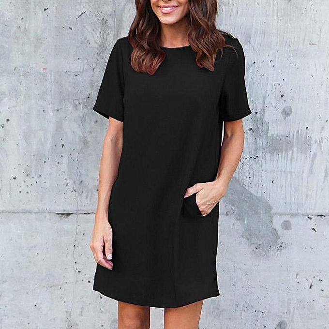 17dede8695a35 ZANZEA Women Summer Short Sleeve T-Shirt Dress Ladies Party Mini Dress Plus  Size