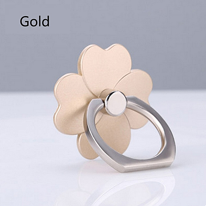 Cell Phone Stand Finger Ring Mount Universal Lucky Clover 360 Degree Rotation Tablet .