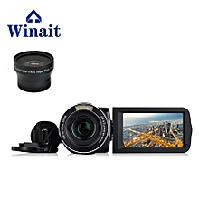 Winait 3.0'' touch display screen HDV-F5 digital video camera with Rotating LCD Screen,Electronic Image Stabilization KANWORLD
