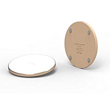 Qi Wireless Charger for iPhone X 8 Plus Fast Wireless Charging for Samsung Galaxy S8 S7 Edge Note 8 Wireless Charger - Gold