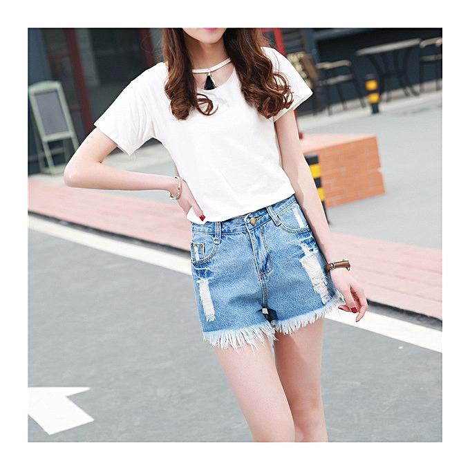 80c05a8db90a Hot sale Summer Hot sale Korean high waist denim shorts female summer thin  hole loose student