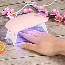 Nail Dryer 6W UV Gel Polish Curing Lamp Machine 365 + 405NM Manicure Tool (White)