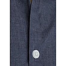 Airforce Blue Men's Plain Shirt