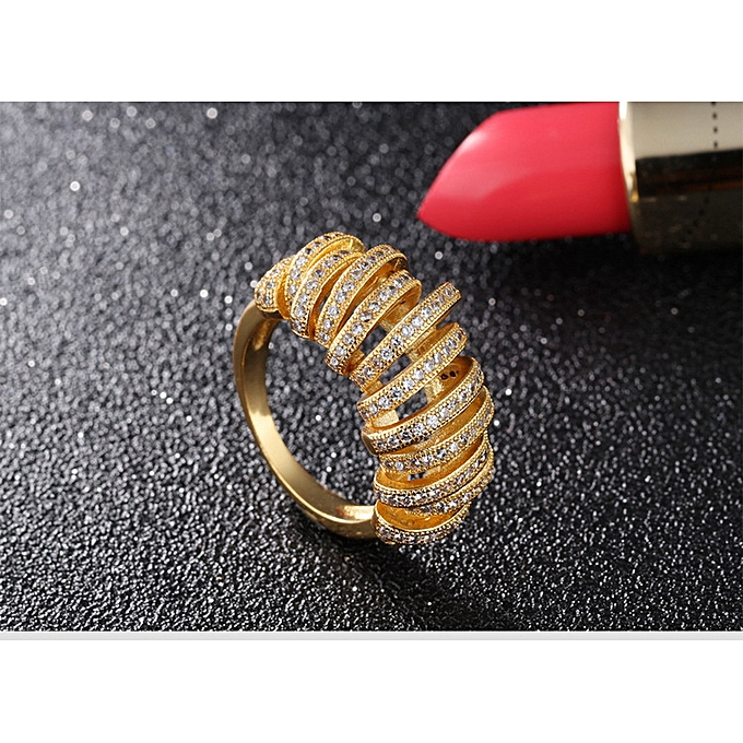 8120000be31 OPK Fashion Exaggeration Hand Jewelry Plating 18K Gold Ring Ladies Diamond  Ring Jewelry Giving Girls-