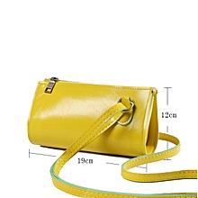 Lady Elegant Geometric Shoulder Mini Bag - Yellow