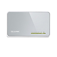 TL-SF1008D - 8-Port - 10/100Mbps - Desktop Switch - White