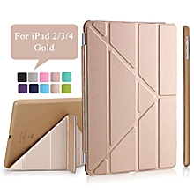 iPad 2/3/4 Case,Ultra Slim Transformers PU Leather Magnetic Cover with Auto Sleep/Wake + PC Matte Hard Back Cover For Apple iPad 2 3 4 HSL-G