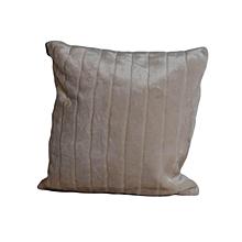 Velvet Cushion - Large - Beige