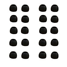Headset 10 Pairs Medium Size Clear Silicone Replacement Ear Buds Tips For Sony Phillips-black
