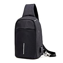 Rechargeable USB Anti-thief Shoulder Bag Backpack One Shoulder Bag BK