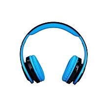 Wireless Bluetooth LED Stereo Headphones - Blue