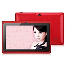 7 Inch HD Unlocked Tablet PC 8GB Wi-Fi Quad Core Google Android 4.4 Tablet -Red