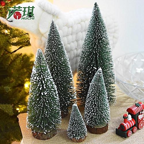 1pcs diy mini christmas tree small pine tree cedar placed in the desktop home decor christmas