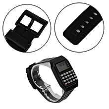 Students Calculator Digital Watch Solid Color Silicone Calculator Wrist Watch