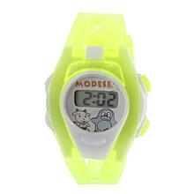 Boy Girl Student Sport Time Electronic Digital LCD Wrist Watch Green