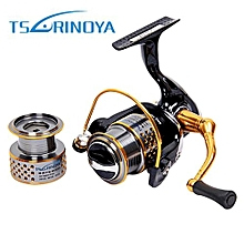 TSURINOYA F2000 5:2:1 Gear Ratio Spinning Fishing Reel For Casting Lure Tackle Line-COLORMIX