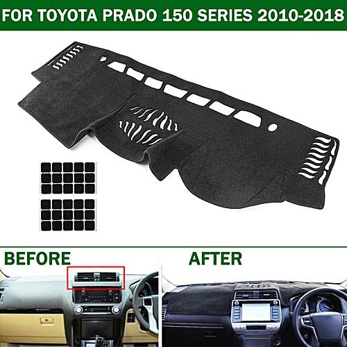 Dashboard Cover Dashmat Dash Mat Carpet For Toyota Prado 150 Series  2013-2018