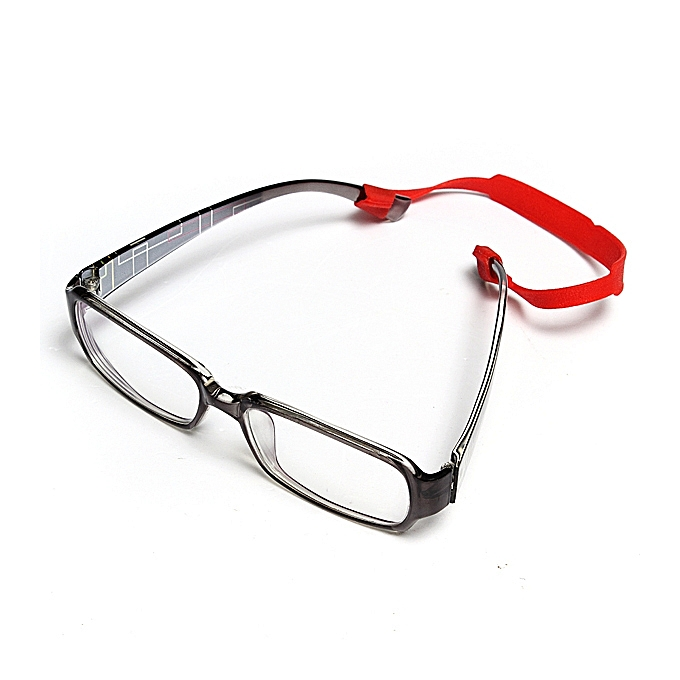 ... Elastic Silicone Band Sunglasses Eyeglass Reading Glasses Sports Strap Holder Red