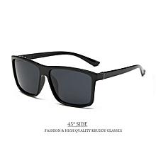 Elegant Sunglasses men Polarized Square sunglasses Brand Design UV400 protection Shades oculos de sol Men glasses Driver-Black