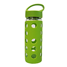Glass Water Bottle - 460ml - Luminous Green