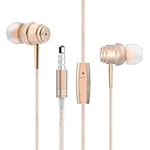 ELE E1 HiFi In-ear Music Earphones Headphones GOLDEN