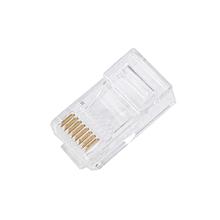 Cable 50PCS Cat5 Cat5e Network Connector Rj45 Metal Cable Modular Plug Terminals( White)