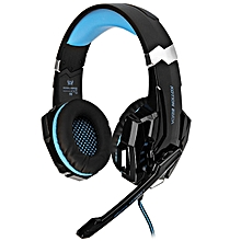 KOTION EACH G9000 Gaming Headphone 3.5mm Game Headset Headphone for PS4 with Mic LED Light - BLACK AND BLUE