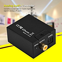 Optical Cable and Power Adapter Digital Analog Audio Converter Optical Fiber to Analog Digital Audio Decoding