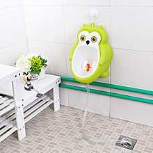 Green Owl Training Potty Toilet Kids Urinal Baby Boys Bathroom Hanging Pee Train