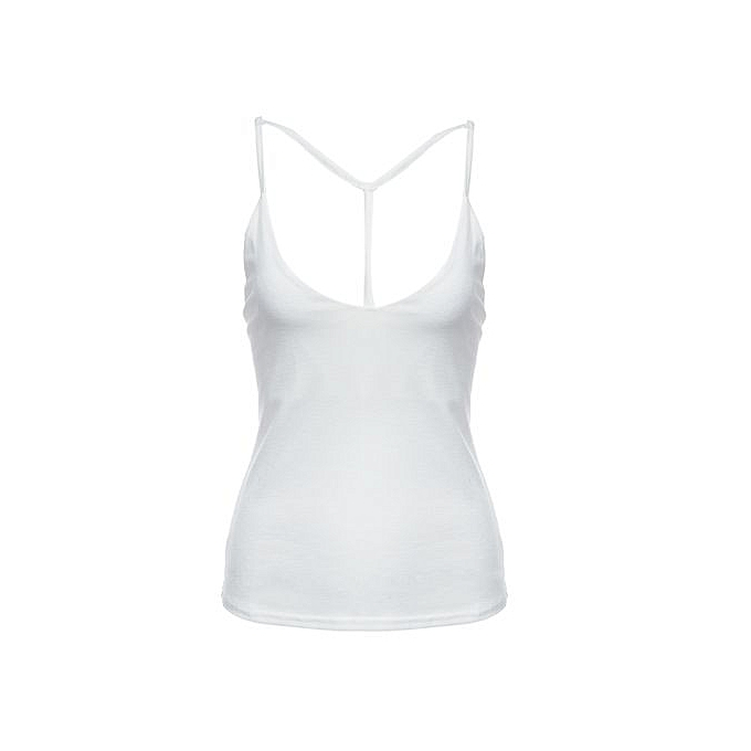 d7797a73fa Fashion Women Spaghetti Strap Tank Top - White   Best Price