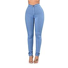 Sky Blue High Waist Jeans