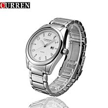 Watches, 8048 Men Fashion Sports Quartz Wristwatches Military Waterproof Watch - Silver