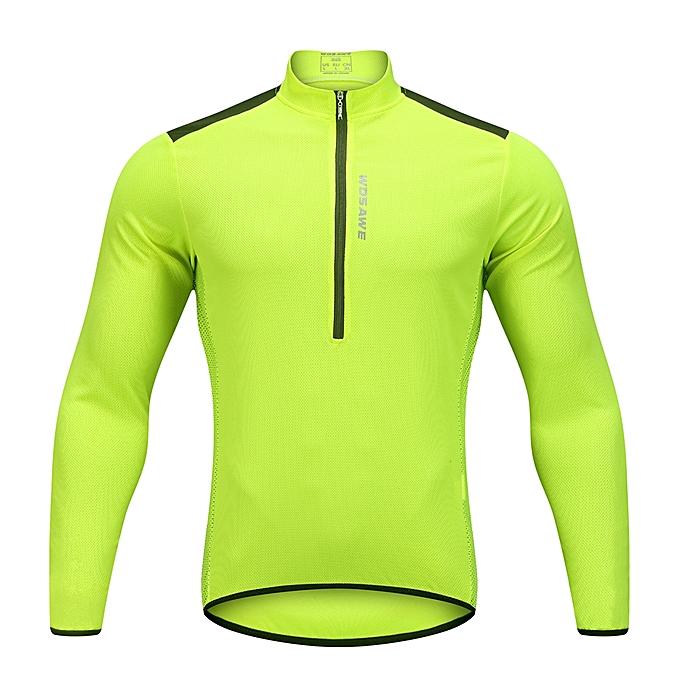 ... Wosawe Men s Cycling Jersey Spring Autumn Half-zip MTB Bike Riding Long  Sleeve Shirt Clothing 75d9647fd