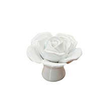 New Arrival Fashion Ceramics Single Hole Rose Drawer Knobs Door Handle Home Accessories