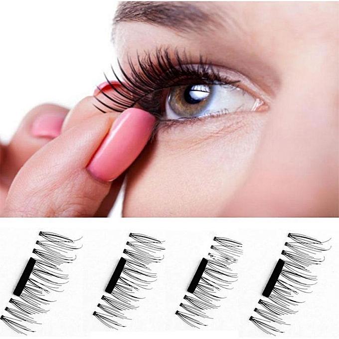 Buy Louis Will False Eyelashes Natural Eye Lashes Extension 4 Pcs