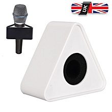 Portable Mic Microphone Interview Triangular Logo Flag Station Round Handheld