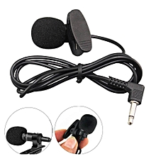 Speaker 3.5mm Jack Microphone Omnidirectional Condenser Mic -black