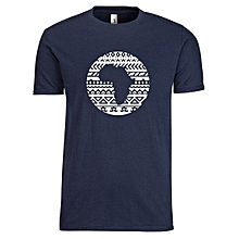 Navy Blue Tribal Afro T-shirt