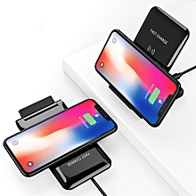 FLOVEME Dual Coils 10W 5W Foldable Fast Wireless Charger Charging Pad For iPhone X 8Plus S9 Note 8