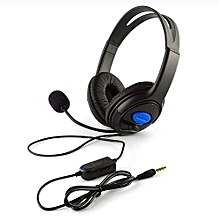 Wired Gaming Headsets Bass Stereo Headphones with Mic for PS4 PC Laptop blue