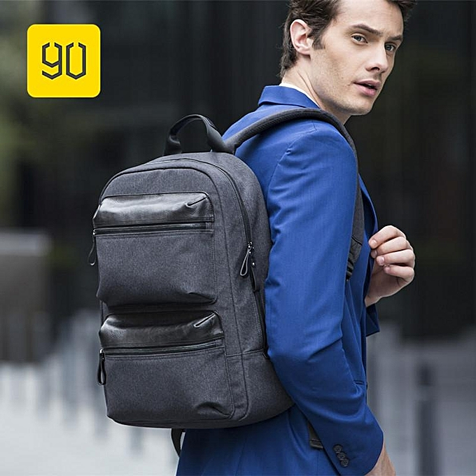 Xiaomi 90FUN Business Travel Backpack 14inch Laptop Bag Waterproof Daypack  Leather Pocket efbcd7808b784