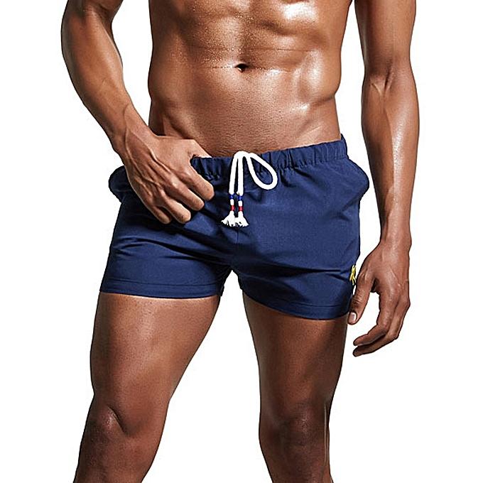 8399e39f54 hiamok Mens Breathable Swim Trunks Pants Swimwear Shorts Slim Wear Bikini  Swimsuit